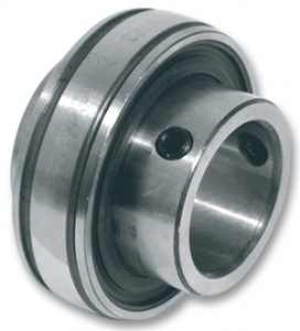 1230-1.1/8 SB206-18 BUDGET Bearing Insert 1.1/8'' Bore Flat Back Spherical Outer with Grub Screw