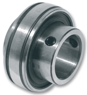 1020-20SS SUC204 BUDGET Bearing Insert 20mm Bore Spherical Outer with Grub Screw Stainless Steel