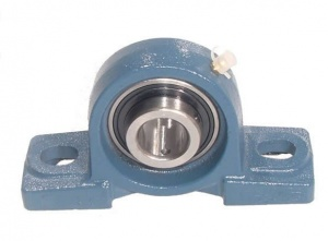 NP15EC   RHP Two Bolt Cast Iron 15mm Bore Plummer / Pillow Block Flat Back Insert Housed Unit with Eccentric Collar