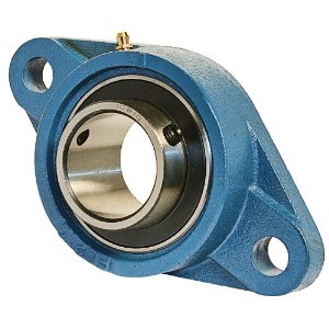 SFT35EC  SAFL207 BUDGET Two Bolt Cast Iron 35mm Bore Flanged Flat Back Insert Housed Unit with Eccentirc Collar